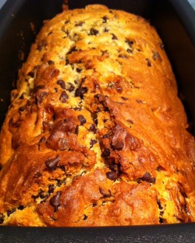 marlette, cake, banane, chocolat, pépites