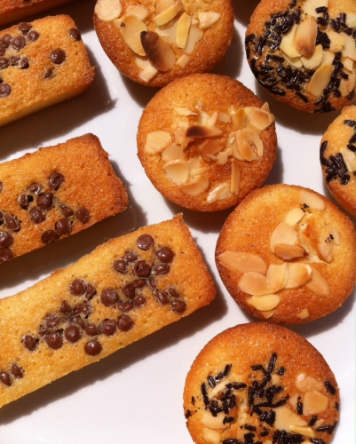 financiers, guy demarle, poudre d'amandes, chocolat