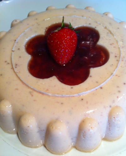 fraise,bavarois,bavaroise,crème anglaise