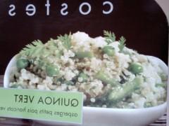 costes, monoprix, quinoa vert