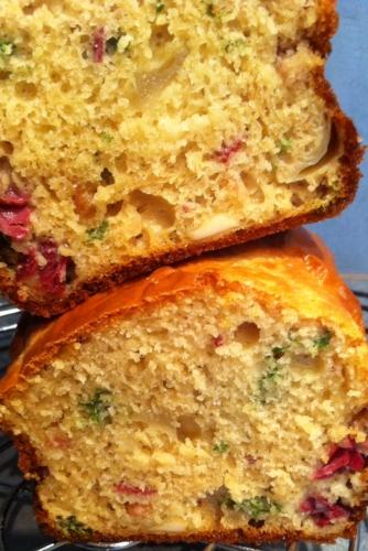 cake, cake salé, magret de canard, échalotte, persil, emmental