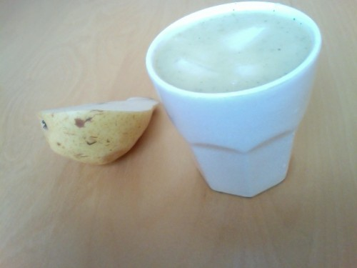 gaspacho, concombre, menthe, poires
