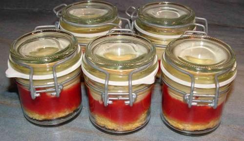 tiramisu, coulis de fraises, mascarpone, génoise, bocaux, verinnes