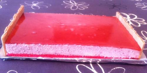 entremets, fraise, mousse, mascarpone, paille d'or, fraise, miroir fraise