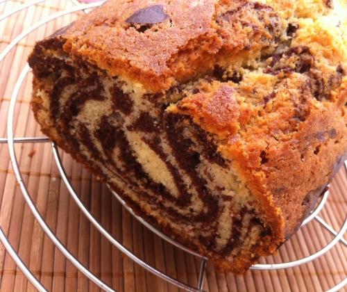 cake zébré, vanille, cacao
