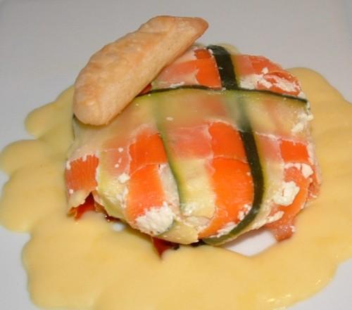 poisson, églefin, saumon fumé, empreinte guy demarle, carottes, courgettes, sauce citronnée
