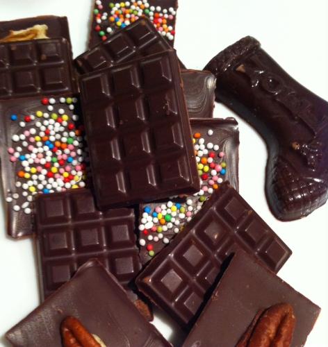 chocolat, mini-tablettes, caraïbes, valrhona, billes croustillante, noix, noisettes