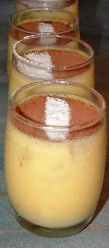crème, poires, chocolat, vanille