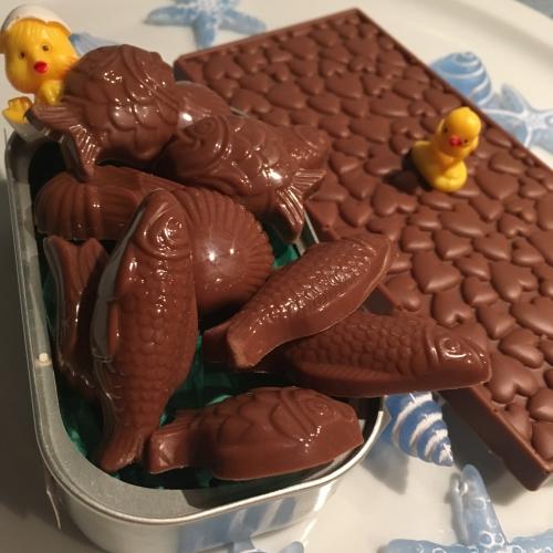 chocolat, pâques, chamallow, valrhona, caramelo, tablette, silikomart