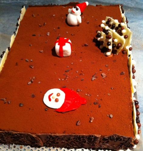 Entremets croustillant Gianduja, mousse lègère chocolat lait Jivara Valrhona & cacao