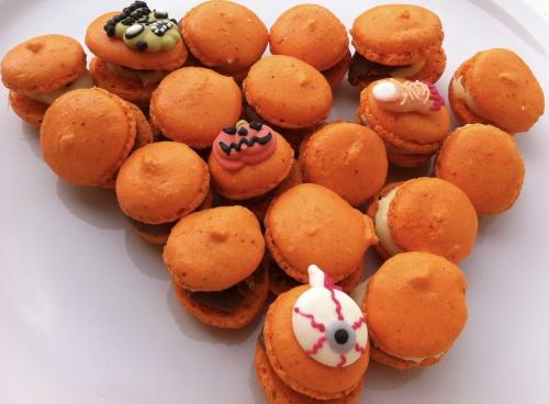 macarons, halloween, ganache, coques, chocolat