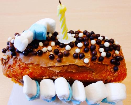 cake,pralinoise,fraise tagada,mini chamallows