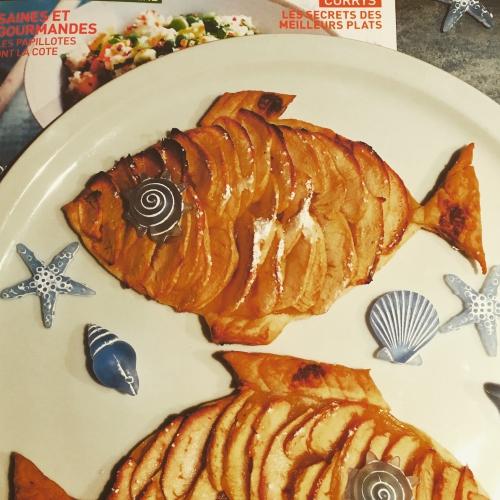 pâques, poisson, tartelette, pomme