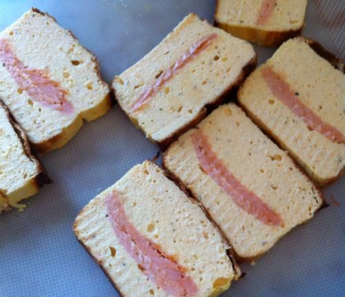 terrine, entrée, saumon, saumon fumé, fromage frais