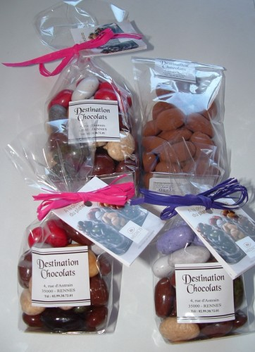 destination chocolat, rennes, dragées, chocolat, cornet