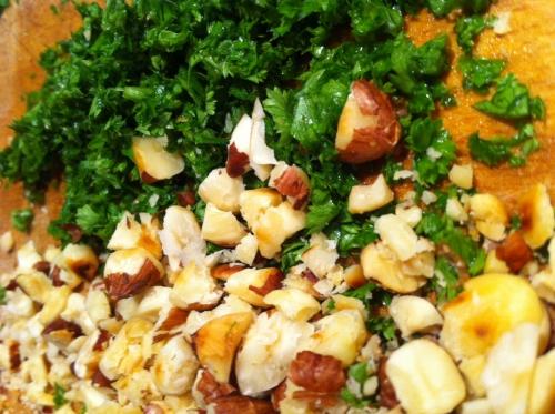 potage, soupe, artichaut, persil, noisette