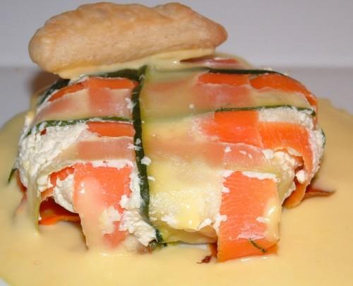 poisson,églefin,saumon fumé,empreinte guy demarle,carottes,courgettes,sauce citronnée