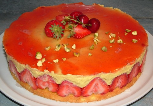 fraisier, fraise, génoise