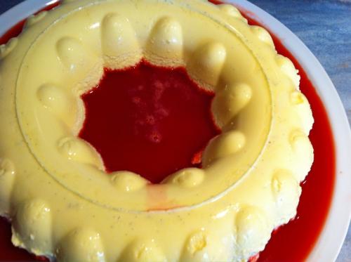bavaroise vanille, coulis de fraises, thermomix