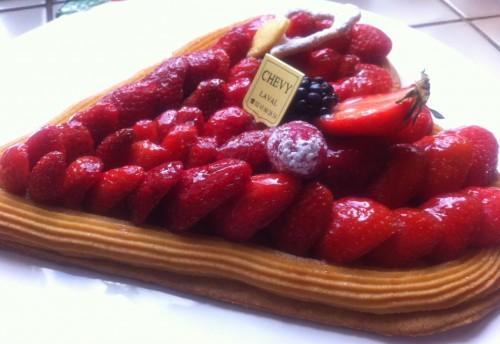 pâtissier, bruno chévy, rue rennaise, laval, mayenne, tarte aux fraises