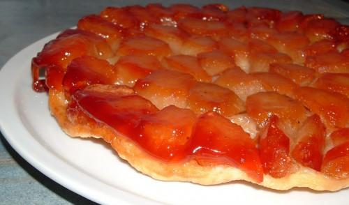 tarte tatin, pommes, caramel, pâte feuilletée thermomix
