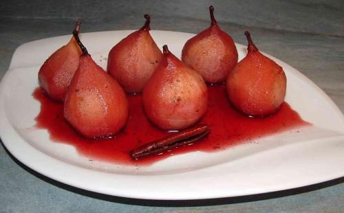 poires, poires finot, poires au vin, quatre épices, cardamome,Jean-Marie Baudic