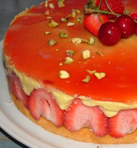 fraisier,fraise cirafine,fraises,génoise,crème mousseline,encyclopédie des desserts