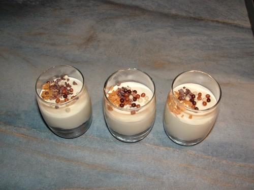 mousse ivoire Vlarhona, chocolat blanc, mercotte