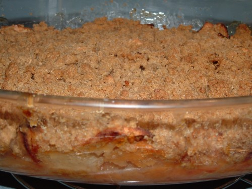 crumble, pommes, poires, farine de petit épeautre, farine d'avoine