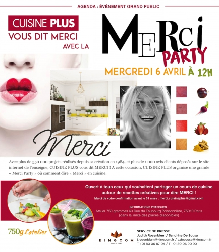merci party,750 g,cuisine plus,paris