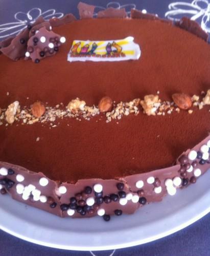 chocolat Valrhona Jivara, entremets, dacquoise, feuilleté praliné, mousse jivara, mercotte, dacquoise noisettes