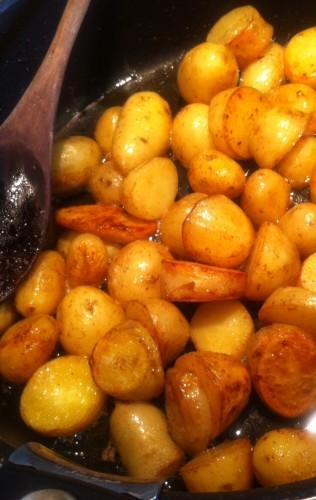 pommes de terre, peau, beurre, gros sel