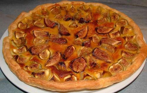 tarte, figues fraîches, figues blanches, mousse de figues, syphon