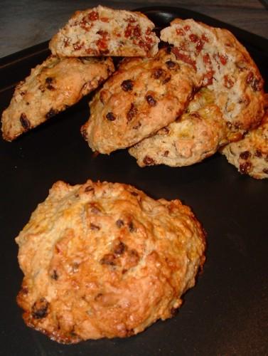 scones, baies de goji, noisettes, La Pâtisserie Maison, Marlette, lait ribot