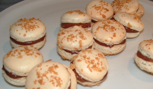 macarons chocopralinégavotte, chef nini, praliné