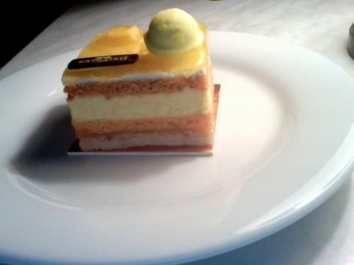 desserts, entremets, agrumes, fruits de la passion, mangue, maison Dalloyau
