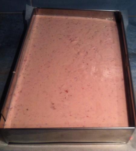 entremets,fraise,mousse,mascarpone,paille d'or,miroir fraise