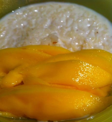 riz au lait, mangue