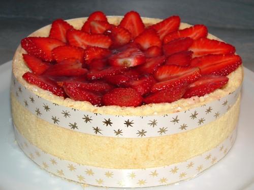 charlotte, fraise, biscuit à la cuillère, mousse bavaroise, fraises, mercotte, solution desserts