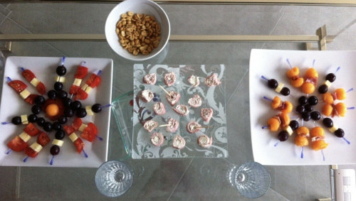 brochette, pics, apéritif, apéro, melon, tomate, fromage, raisin, jambon, boursin, brochettes
