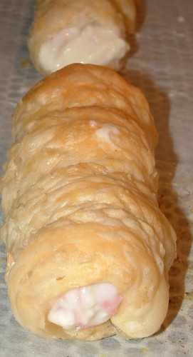 roulé, jambon, pâte feuilletée, emmental