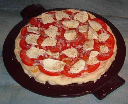 pizza,emile henry,pizza stone,thermomix,mozzarella