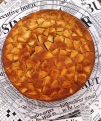 gâteau,pommes,sirop d'érable