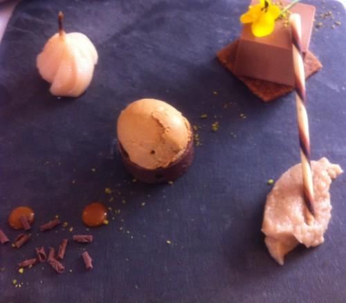 Restaurant 1802, besançon, caravelle, dôme dulcey, carré caramelia, valrhona