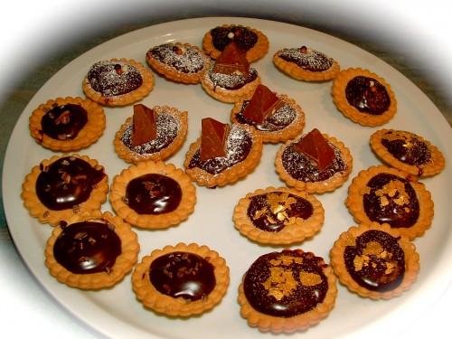 tartelette toblerone,bling-bling,grué de cacao,croustillante,paillettes d'or