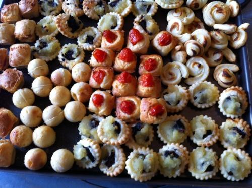 apéritif, pop cakes salés, saumon, parmesan, sel, poivre
